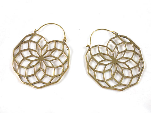 Brass seed of life large hoops
