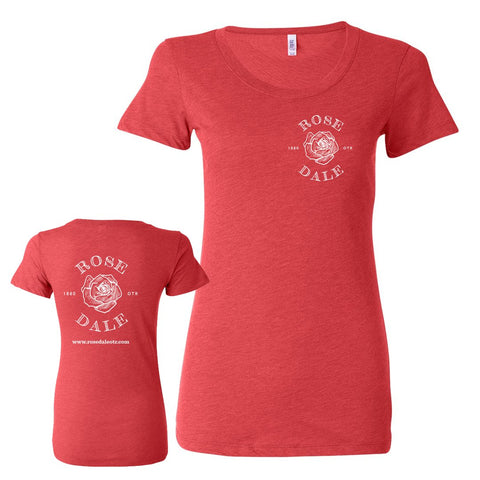 Rosedale Jr. Fit Women's Tee (Red)