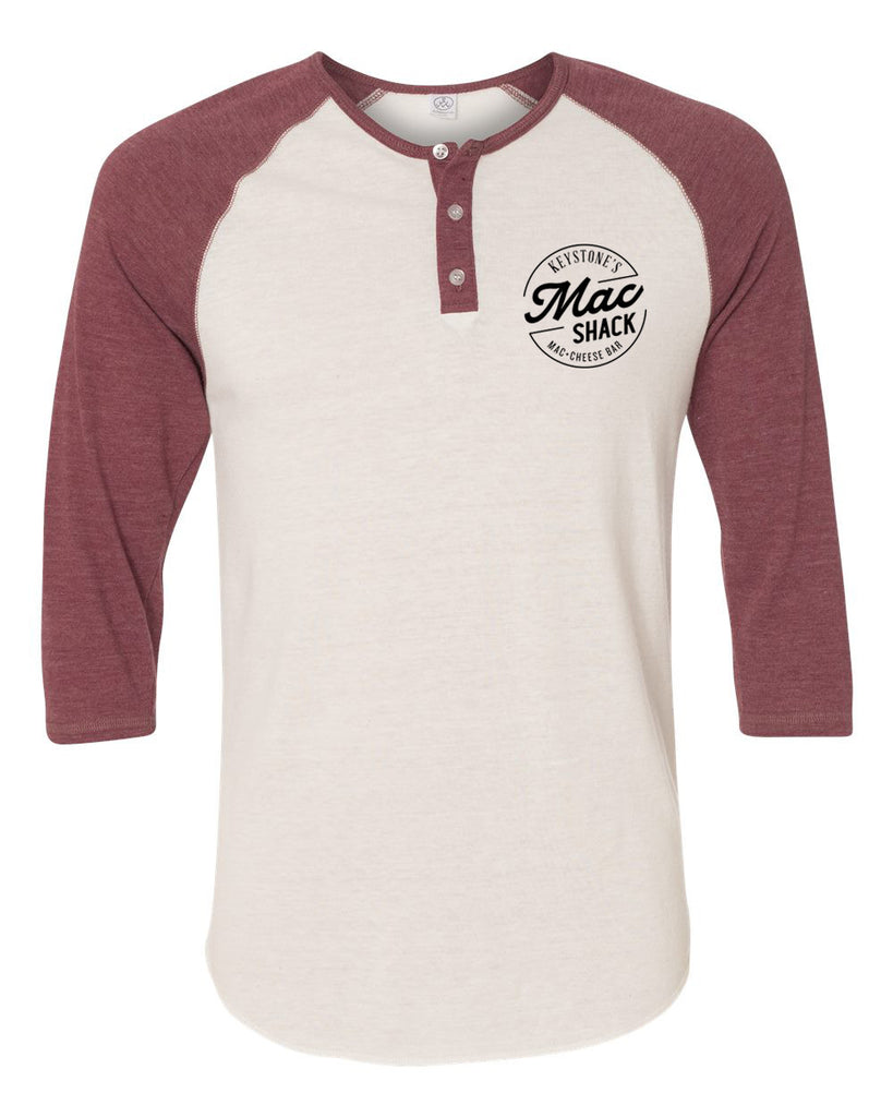 The Mac Shack Raglan Henley (Burgundy)
