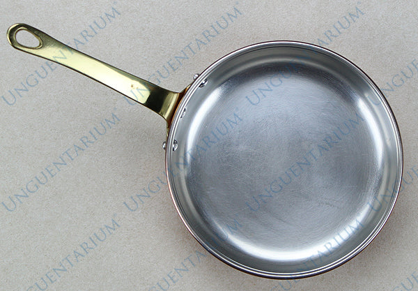 Tinned Copper Frying Pan with single brass handle Ø16cm, picture 1