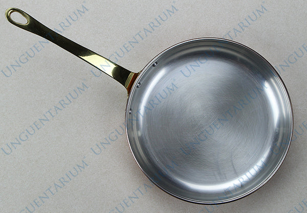 Tinned Copper Frying Pan with single brass handle Ø22cm, picture 1