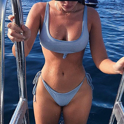 Clear Skies Ribbed Bikini