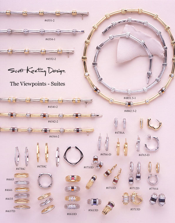 Viewpoints Collection Fluted Gold Suites with gems