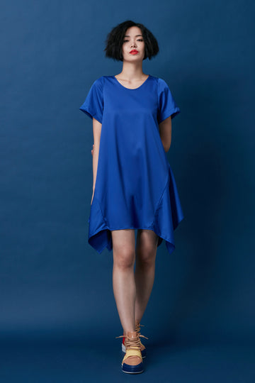 Trapezium Dress (Blue)