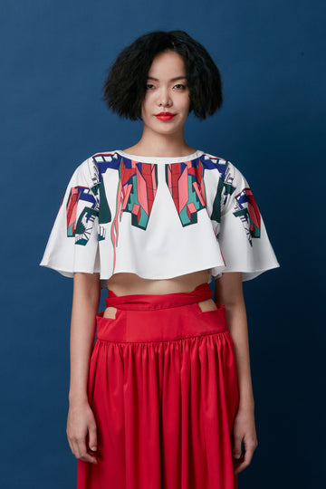 Full Circle Cropped Top (Casa Horta)