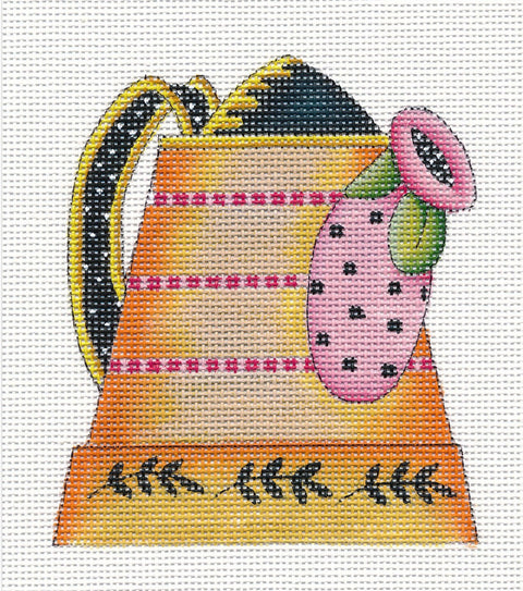 Needlepoint Canvas: Clay Pot Watering Can