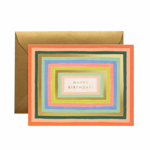 Rifle Paper Co. Disco Birthday Card - colourful geometric greeting card