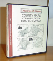 Image unavailable: County Maps - Cornwall, Devon, Somerset & Dorset
