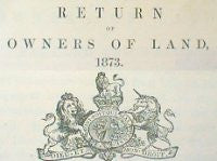 Image unavailable: Cheshire 1873 Return of Owners of Land