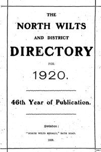 North Wiltshire and District Directory 1920