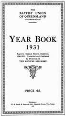 Image unavailable: Queensland Baptist Year Books 1931-1940