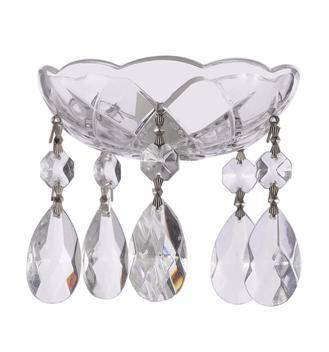 Clear Crystal Bobeche with 38mm Teardrop Crystals for Chandeliers Asfour Lead Crystal - ChandelierDesign