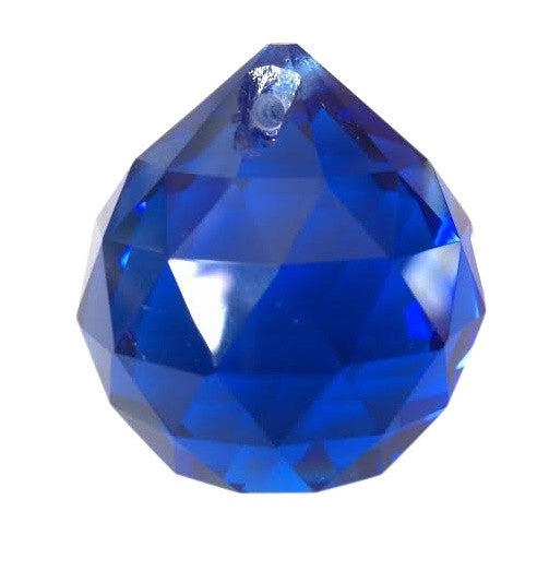 Cobalt Blue Chandelier Crystal Faceted Ball Prism - ChandelierDesign