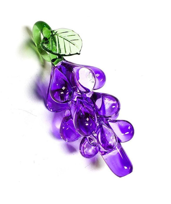 Purple Murano Style Glass Grapes for Chandeliers 65mm Fruit Ornaments - ChandelierDesign