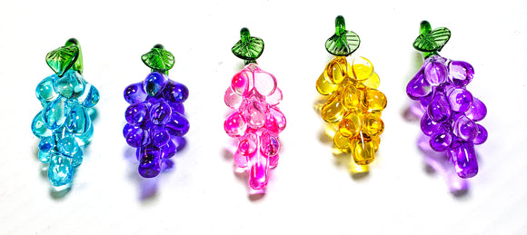 Murano Style Glass Grapes for Chandeliers 65mm Fruit Ornaments - ChandelierDesign
