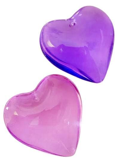Smooth Heart Violet and Lilac Chandelier Crystals 35mm - ChandelierDesign