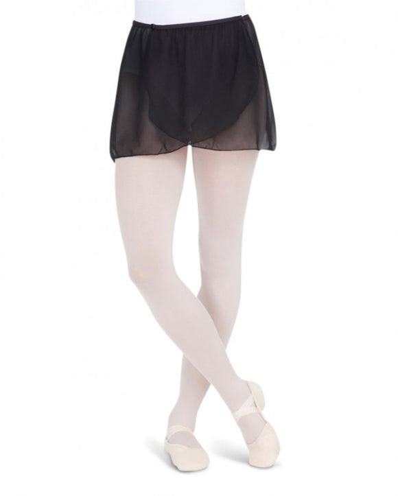 Capezio Button Wrap Skirt - Women MC800 Black