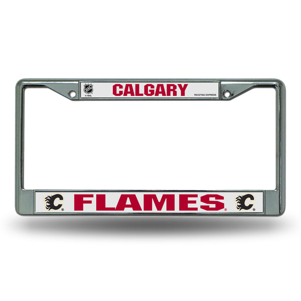 Flames Chrome License Plate Frame