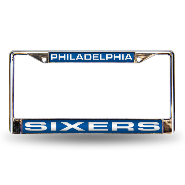 76ers Chrome License Plate Frame