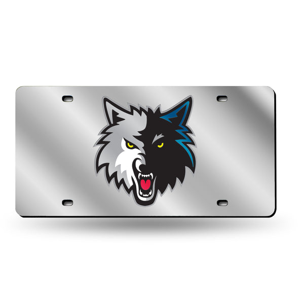 Timberwolves Silver Laser Cut Tag