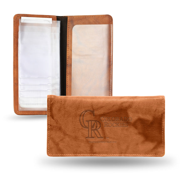 Rockies Embossed Checkbook Holder