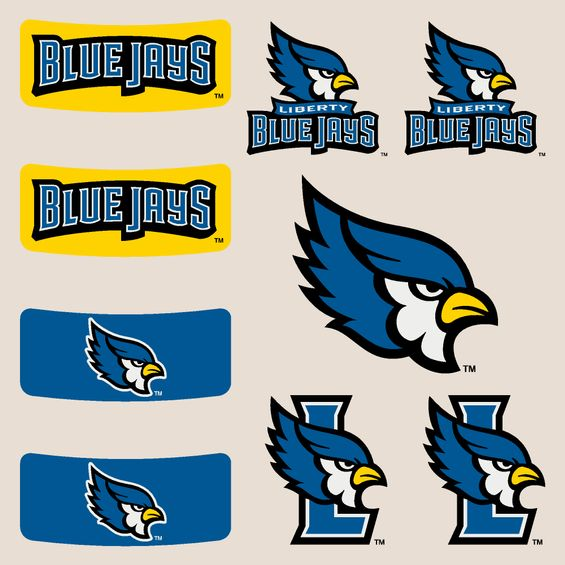 Liberty Blue Jays Body Cals Removable Body Decals