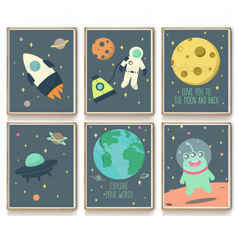 OUTER SPACE COLLECTION - SET OF 6