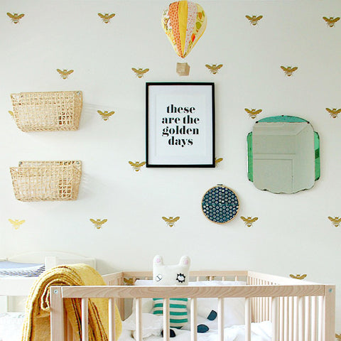 BUMBLE BEE PATTERN STICKERS