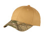 Twill Cap with Camouflage Bill