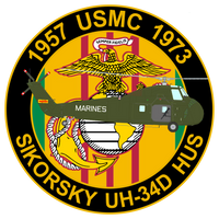 USMC UH-34D Commemorative Sticker