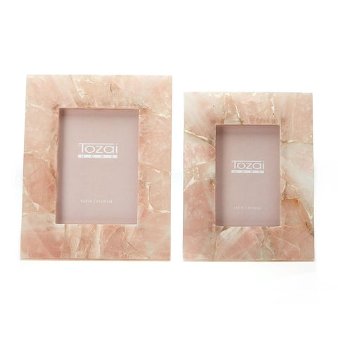 Pink Quartz Picture Frame