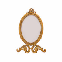 Small Oval Baroque Frame - Gold