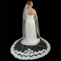 Couture Chantilly Lace Cathedral Veil