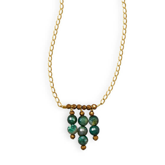 Austin Handmade Agate Green with Envy Necklace-Necklaces-Here Comes The Bling™