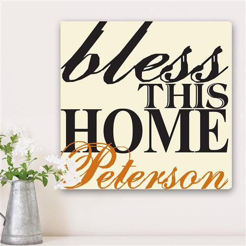 Bless This Home Canvas Sign-Sign-Here Comes The Bling™