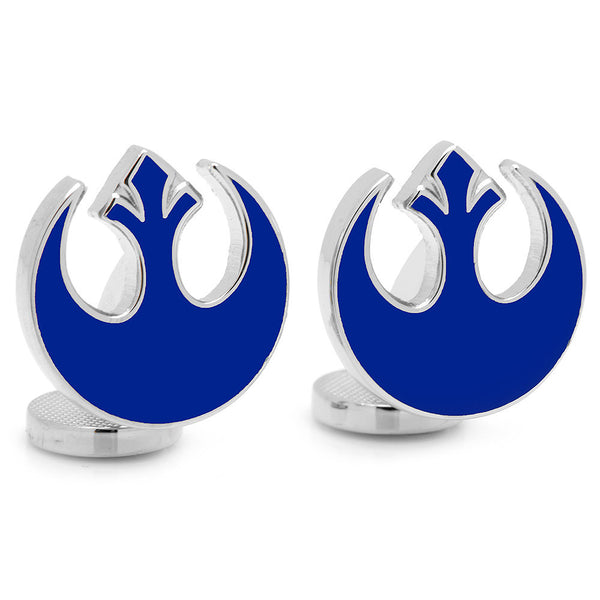 Blue Rebel Symbol Cufflinks-Cufflinks-Here Comes The Bling™