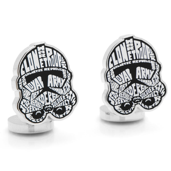 Clone Trooper Typography Cufflinks-Cufflinks-Here Comes The Bling™