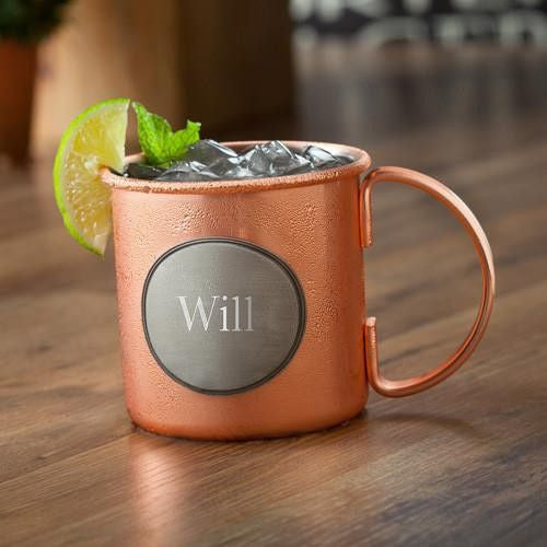 Copper 16 oz Moscow Mule Mug with Pewter Medallion-Barware-Here Comes The Bling™