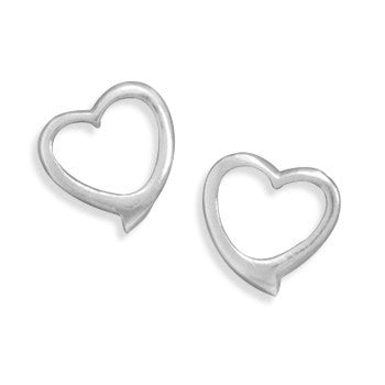 Cut Out Heart Earrings-Earrings-Here Comes The Bling™