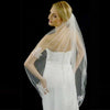Couture Finished Edge Bridal Veil with Scattered Lace Appliques