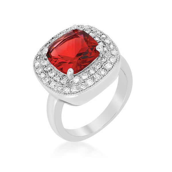 Estate Collection Cocktail Ring in Garnet Red-Rings-Here Comes The Bling™