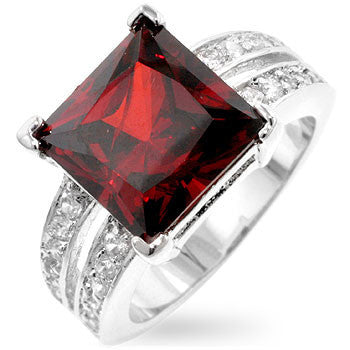 Garnet Princess Ring-Rings-Here Comes The Bling™