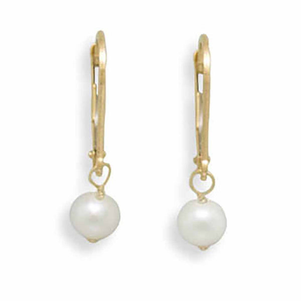 Gold Freshwater Pearl Drop Earrings-Earrings-Here Comes The Bling™