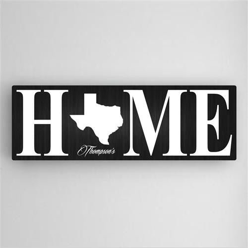 Home State Canvas Sign-Sign-Here Comes The Bling™