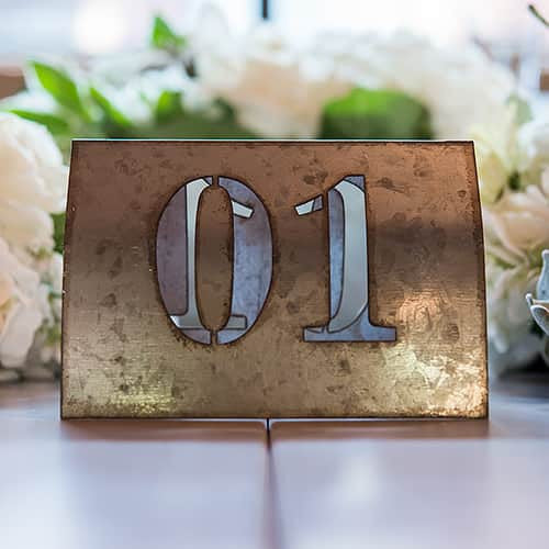 Laser Cut Self Standing Metal Table Number Set Numbers Pack of 6-Table Numbers-Here Comes The Bling™