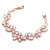 Mosaic Cubic Zirconia Rose Gold Statement Bracelet