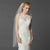 Long Fingertip or Hip Length Single Layer Cut Edge Bridal Veil