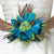 Peacock Bridal or Bridesmaid Bouquet