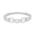 Pear and Round Cubic Zirconia Tennis Bracelet