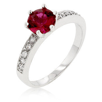 Petite Garnet Red Engagement Ring-Rings-Here Comes The Bling™